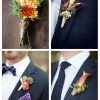 main Fall Wedding Boutonnieres For Every Groom