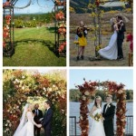 main Outdoor Fall Wedding Arches