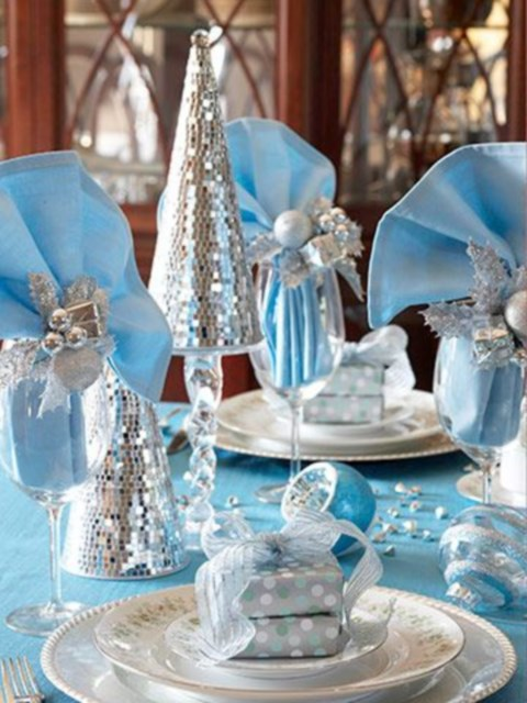 59 beautiful ice blue winter wedding ideas for Winter themed wedding centerpieces