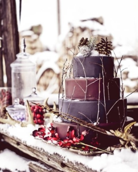 103 Fabulous Winter Wedding Cakes Happywedd Com
