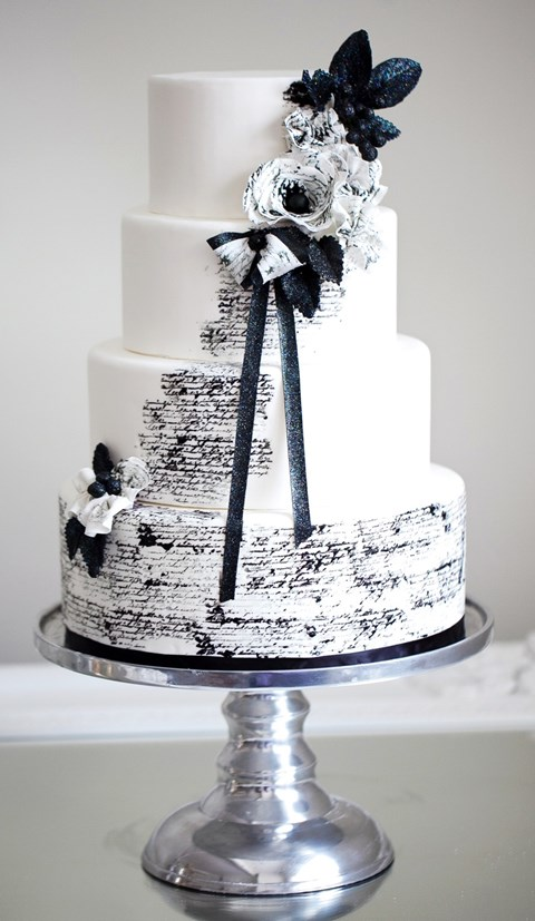 95 Stunning Black And White Wedding Cakes