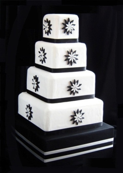 95 stunning black and white wedding cakes. Black Bedroom Furniture Sets. Home Design Ideas