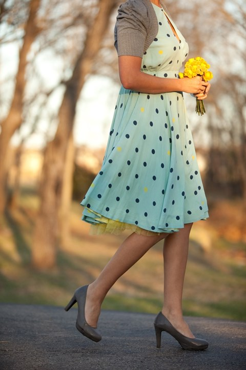 chic-polka-dot-bridesmaids-dresses-11