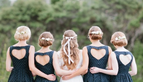 chic-polka-dot-bridesmaids-dresses-13