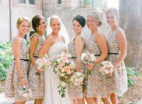 chic-polka-dot-bridesmaids-dresses-14
