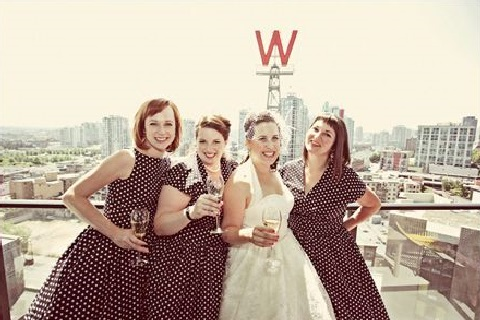 chic-polka-dot-bridesmaids-dresses-17