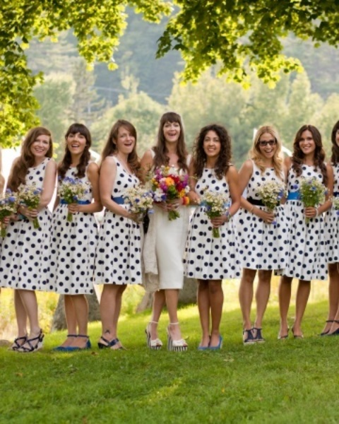 chic-polka-dot-bridesmaids-dresses-23