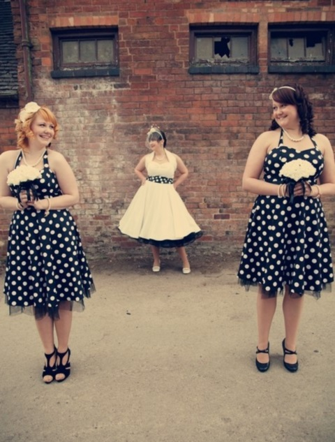 chic-polka-dot-bridesmaids-dresses-24