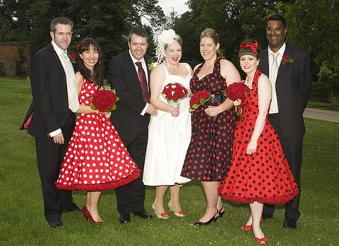 chic-polka-dot-bridesmaids-dresses-26