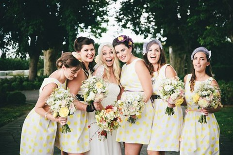 chic-polka-dot-bridesmaids-dresses-27