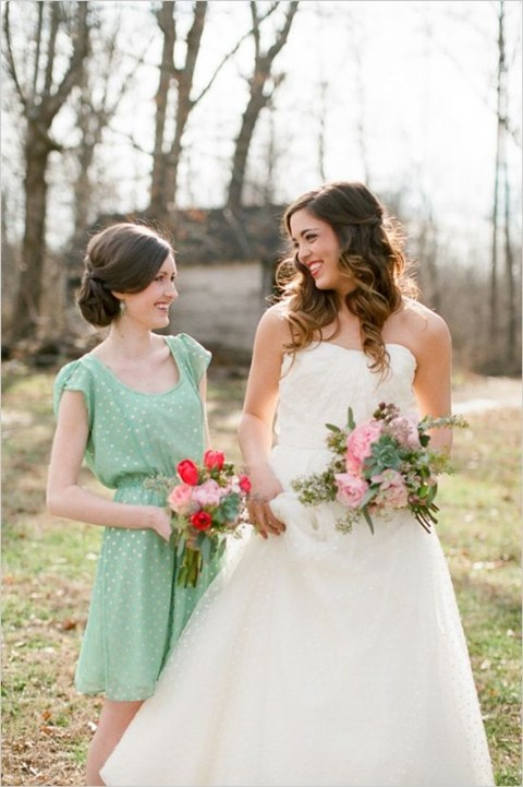 chic-polka-dot-bridesmaids-dresses-3