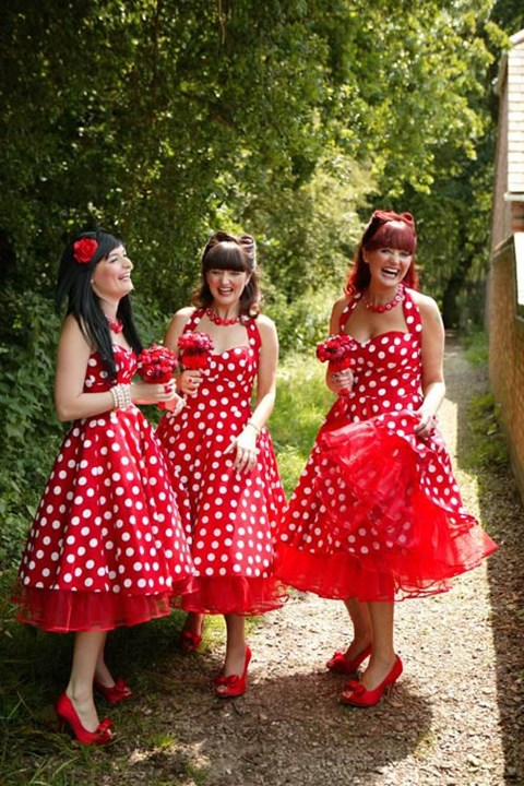 chic-polka-dot-bridesmaids-dresses-33