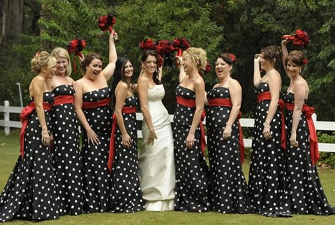 By Mia 38 Chic Polka Dot Bridesmaids Dresses Hywedd