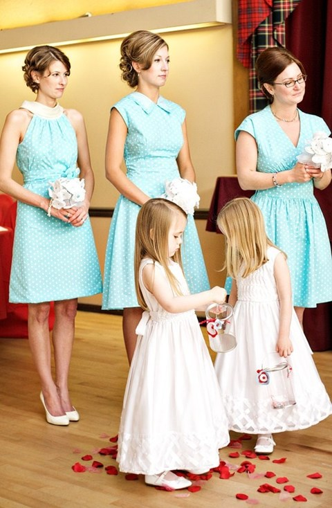 chic-polka-dot-bridesmaids-dresses-37