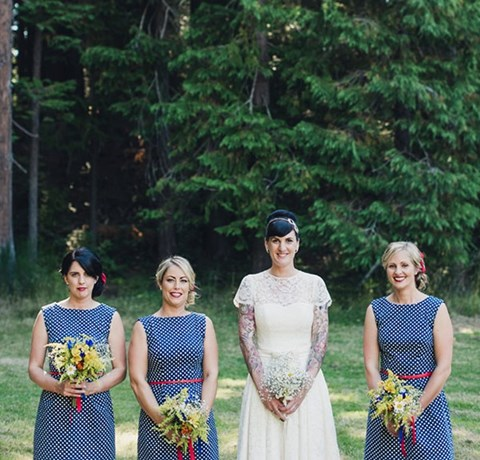 38 Chic Polka Dot Bridesmaids' Dresses