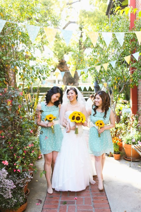 chic-polka-dot-bridesmaids-dresses-6