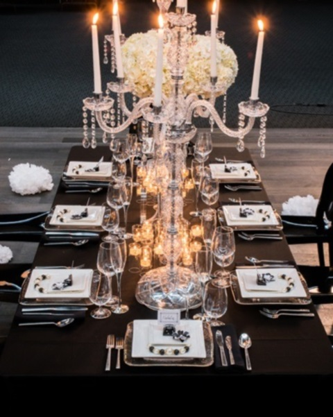 & 58 Elegant Black And White Wedding Table Settings | HappyWedd.com