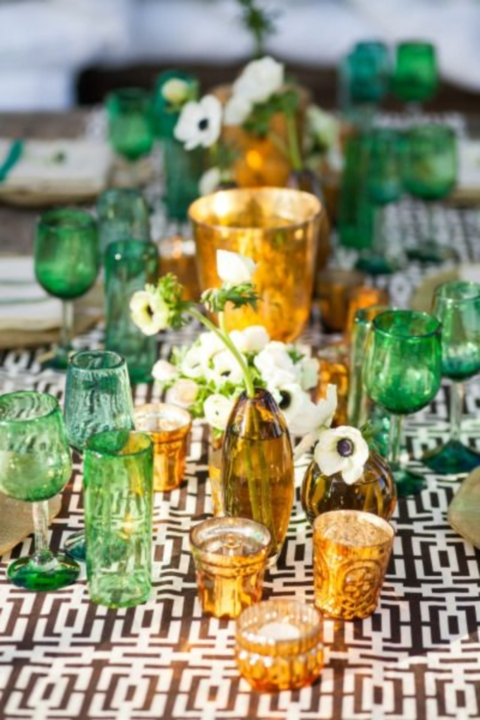 emerald and gold wedding ideas 05