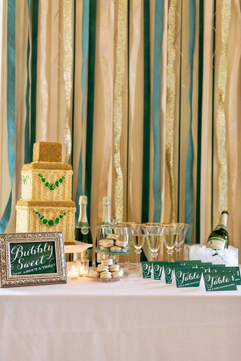 emerald and gold wedding ideas 06
