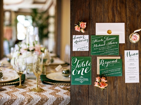 emerald and gold wedding ideas 09