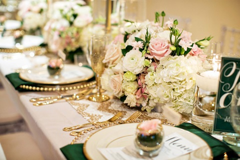 emerald and gold wedding ideas 10