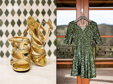 emerald and gold wedding ideas 12