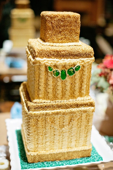 emerald and gold wedding ideas 14