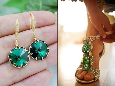 emerald and gold wedding ideas 15