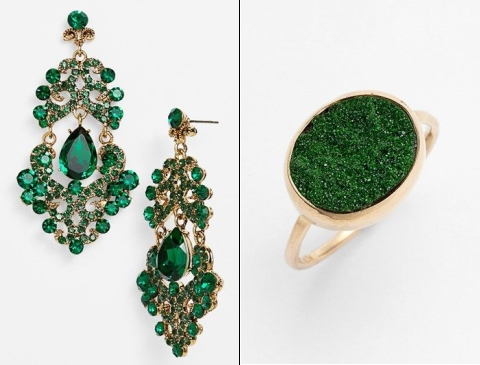 emerald and gold wedding colors 17