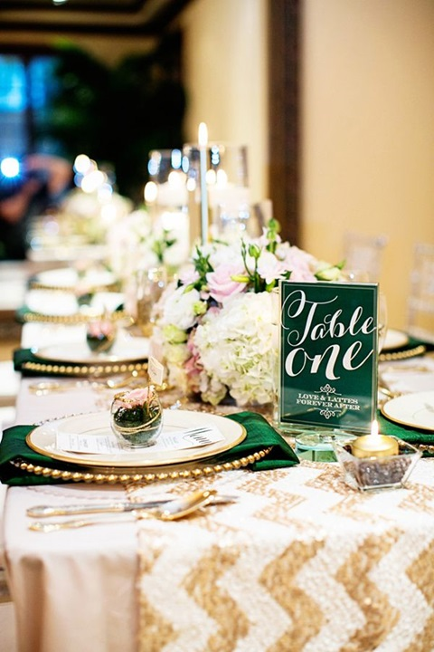 48 Sophisticated Emerald And Gold Wedding Ideas To Get Inspired