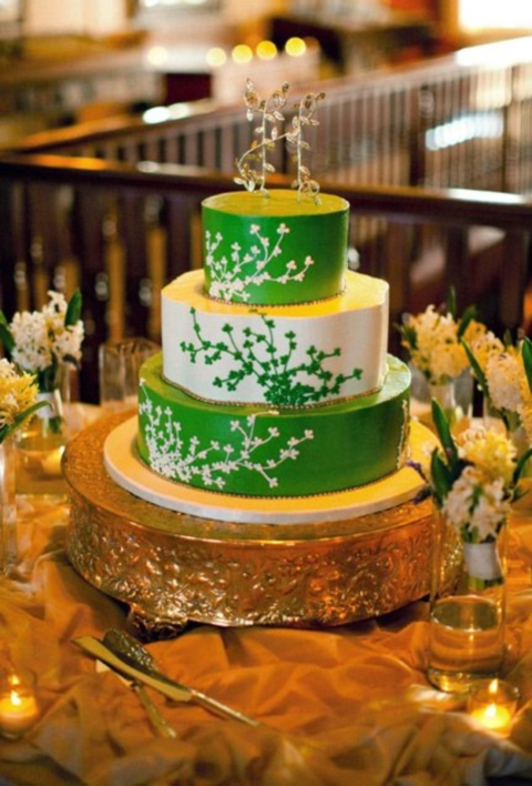 emerald and gold wedding colors 24
