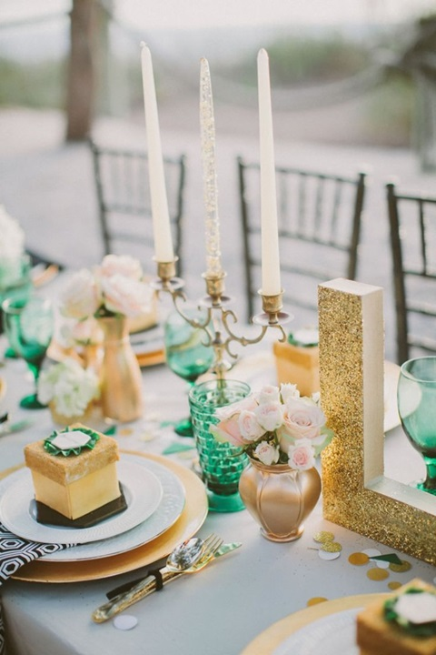 emerald and gold wedding colors 26