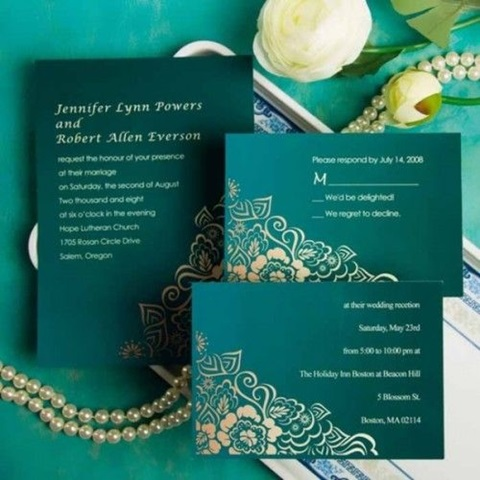 green and gold wedding color ideas 27