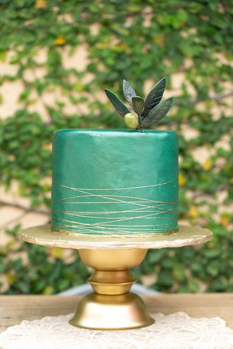 wedding colors of emerald and gold 29