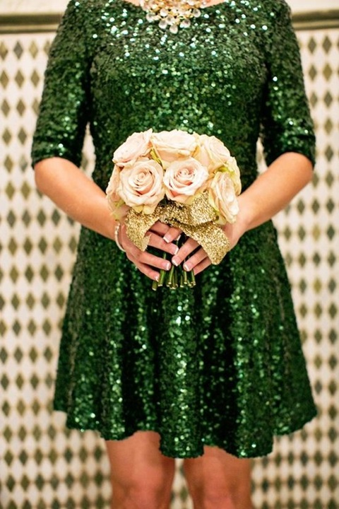 wedding colors of emerald and gold 33