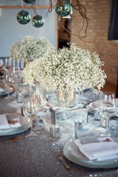 90 inspiring winter wedding centerpieces you ll love for Winter themed wedding centerpieces