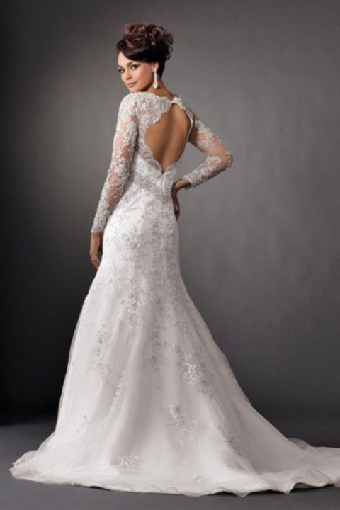 d69e9f438ae 78 Gorgeous Keyhole Back Wedding Dresses