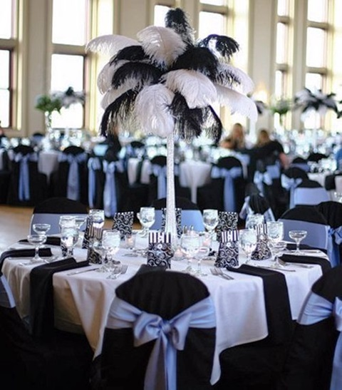46 cool black and white wedding centerpieces - Decoration table noir et blanc ...