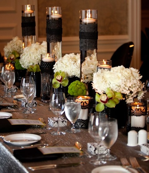 46 Cool Black And White Wedding Centerpieces Happywedd Com