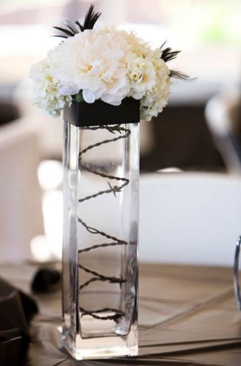 Cool black and white wedding centerpieces happywedd