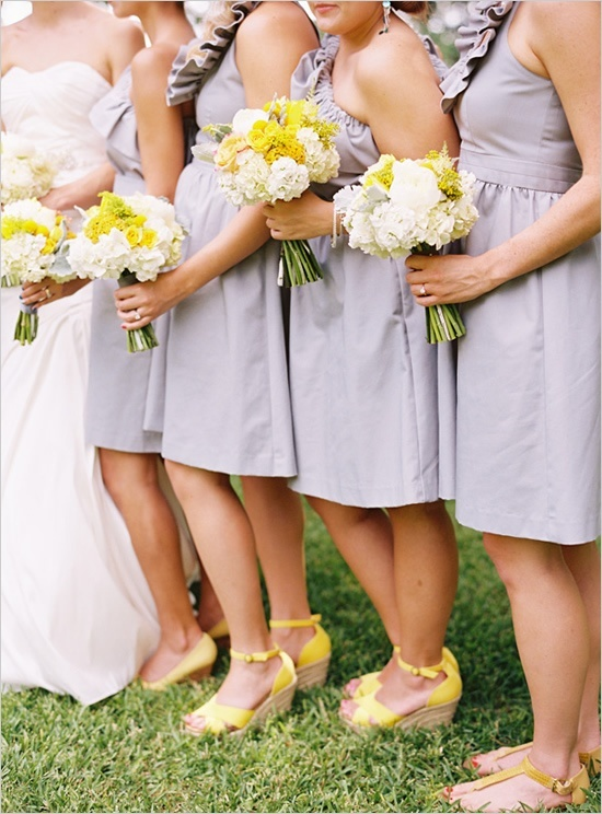 grey and yellow wedding ideas 06