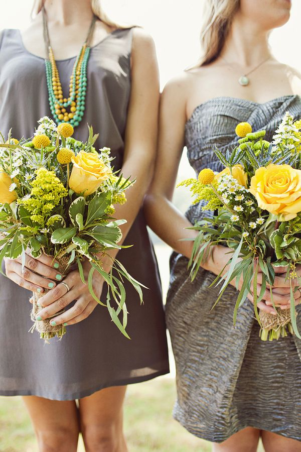 grey and yellow wedding ideas 07