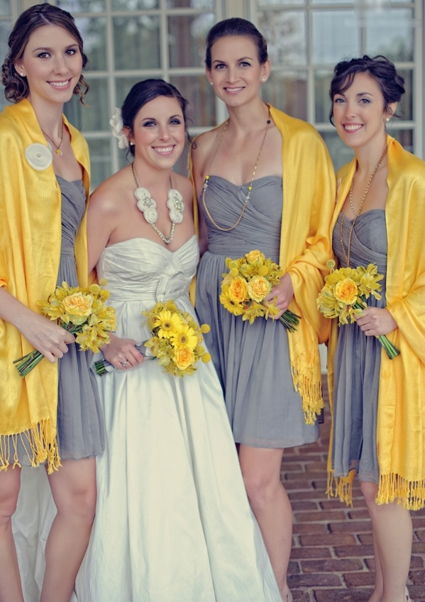 grey and yellow wedding ideas 08