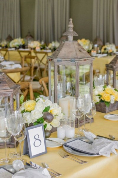 grey and yellow wedding ideas 09