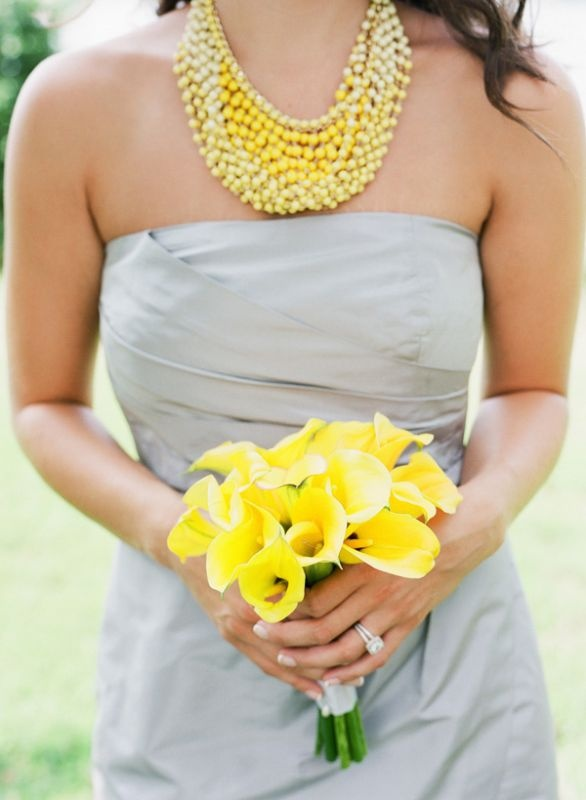grey and yellow wedding ideas 13