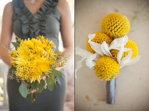 grey and yellow wedding ideas 14