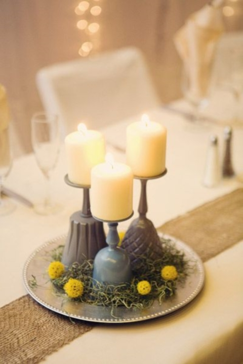 grey and yellow wedding colors 16