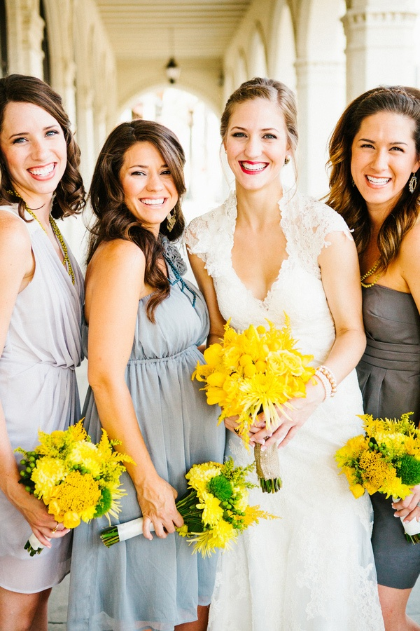 grey and yellow wedding colors 17