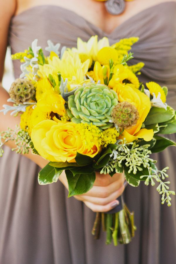 grey and yellow wedding colors 19