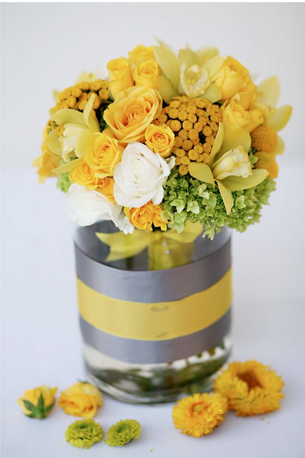 grey and yellow wedding colors 23